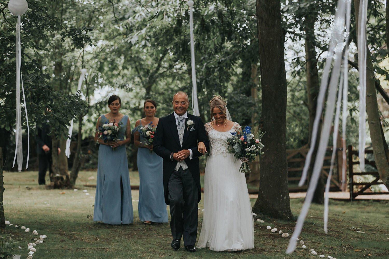 Tipi Wedding Essex bridal walk