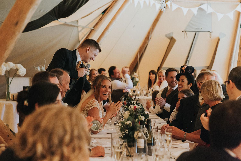 Tipi Wedding in Essex