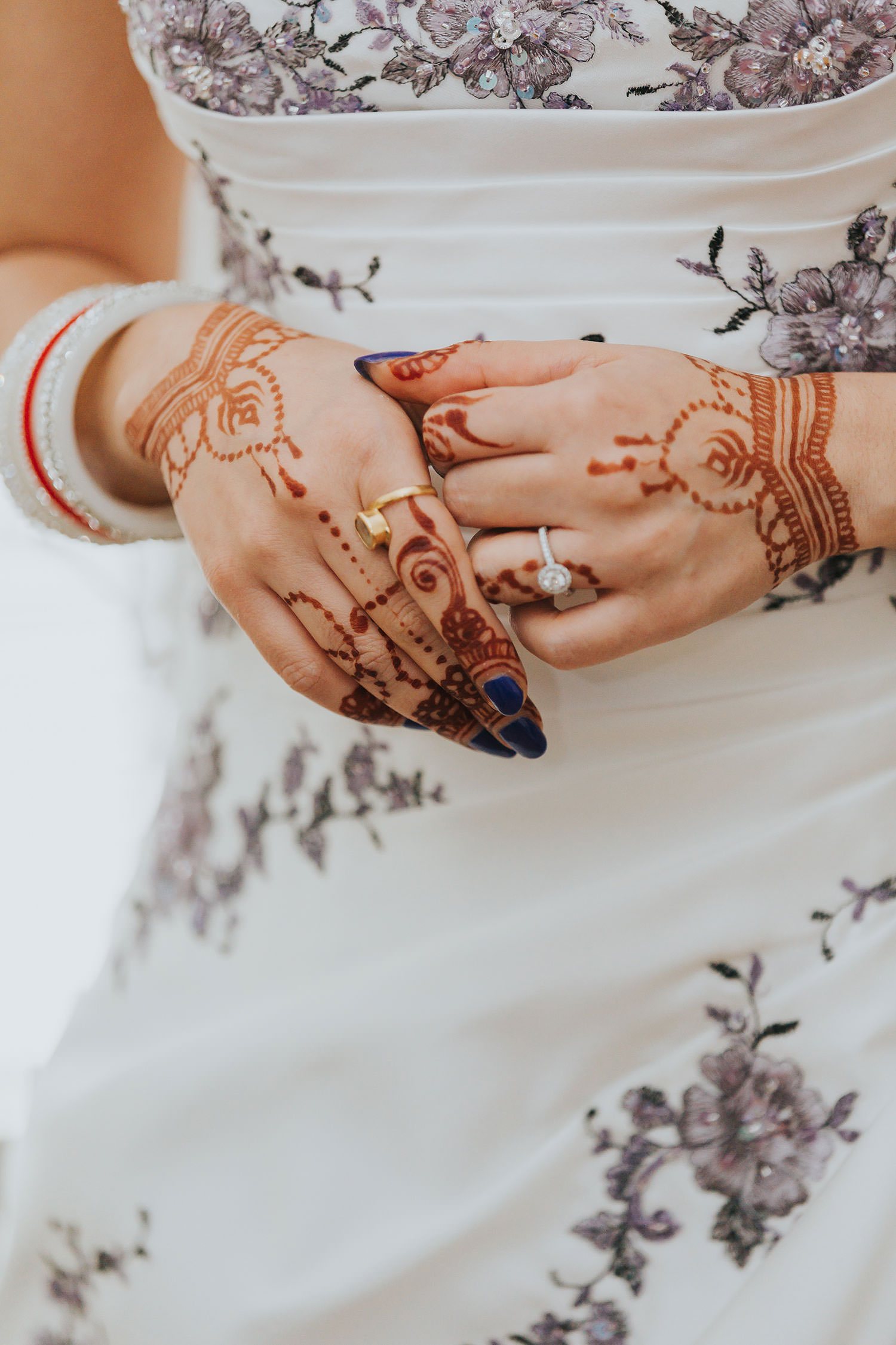 bride henna at OXO2 Wedding London