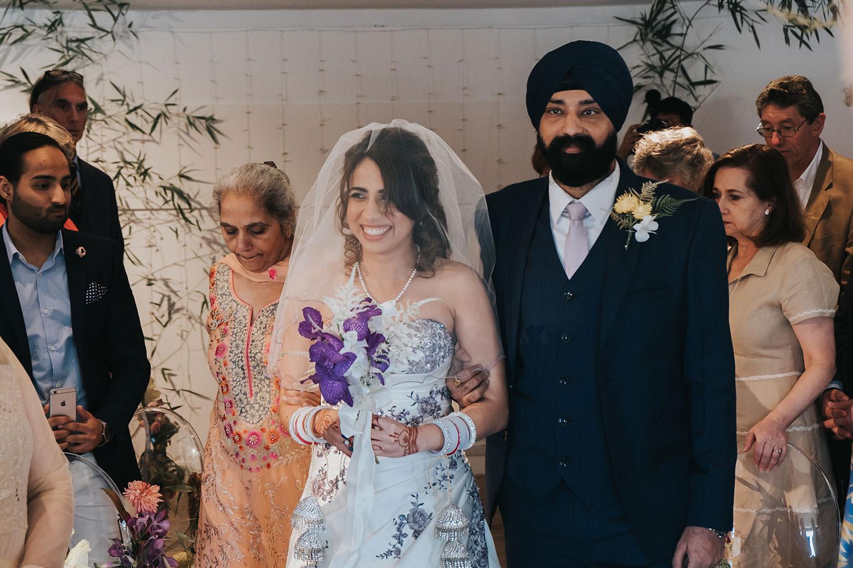bridal entrance at OXO2 Wedding London