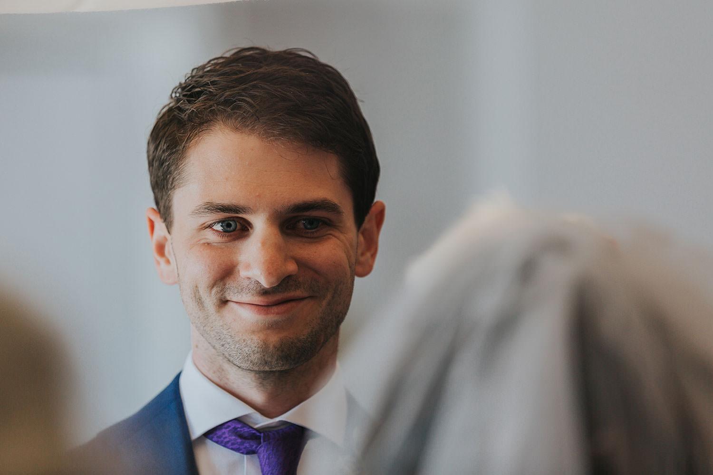 groom face at OXO2 Wedding London