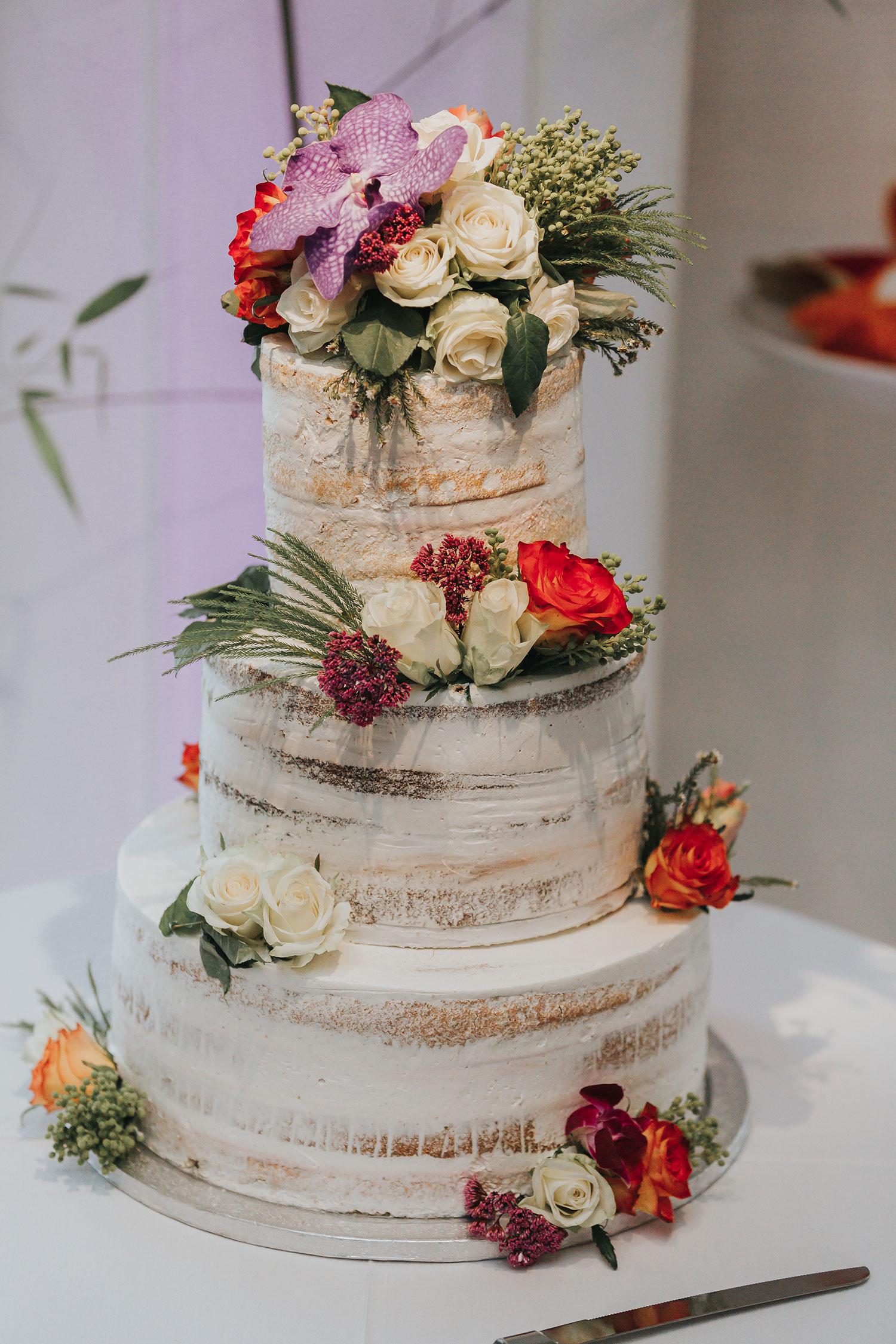 wedding cake at OXO2 Wedding London