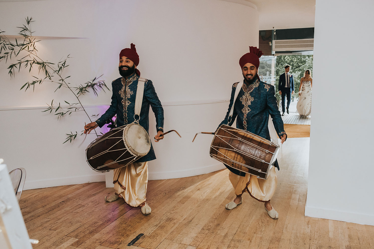 indian drummers at OXO2 Wedding London