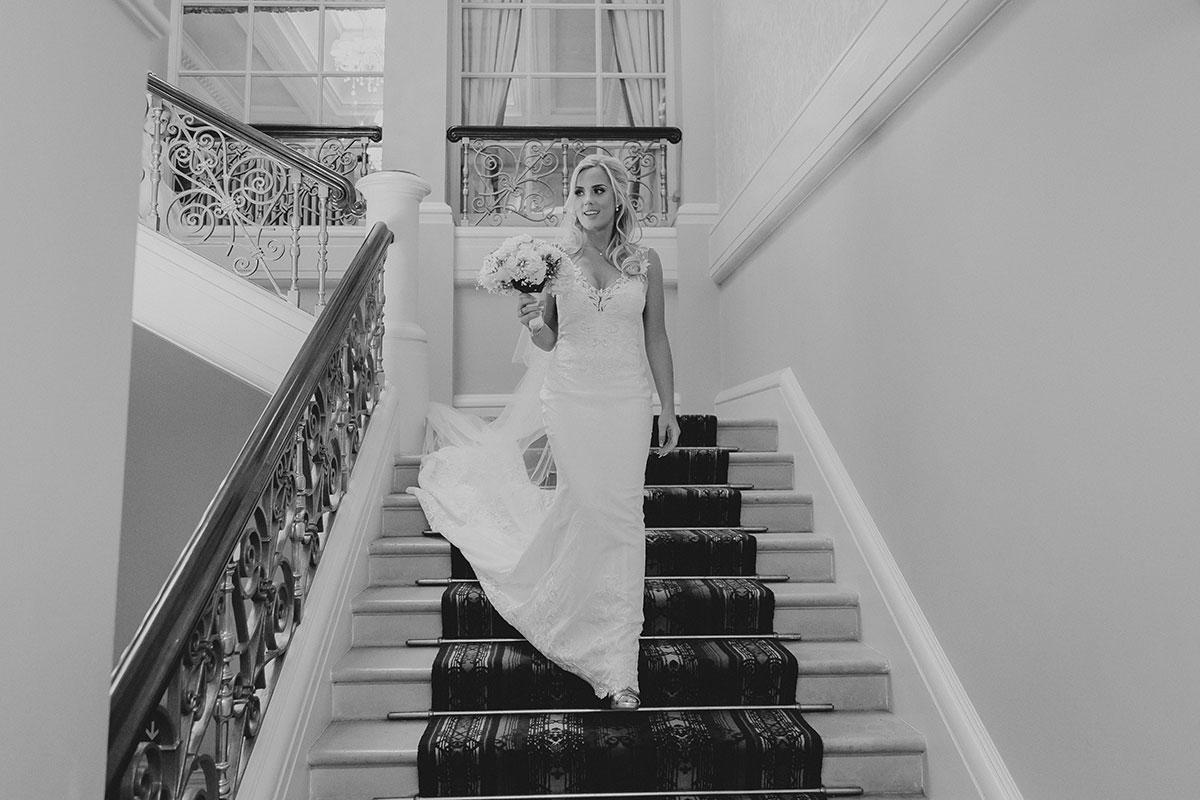 stunning bride at Down Hall wedding