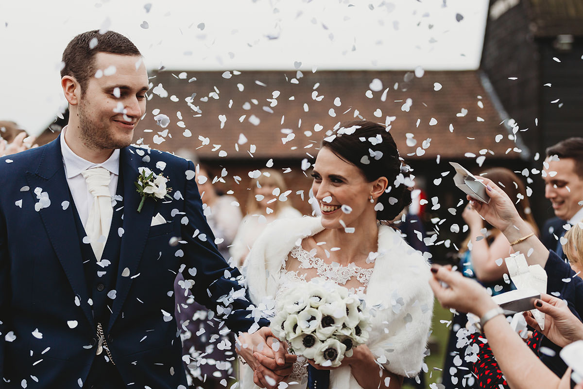 crondon park wedding confetti