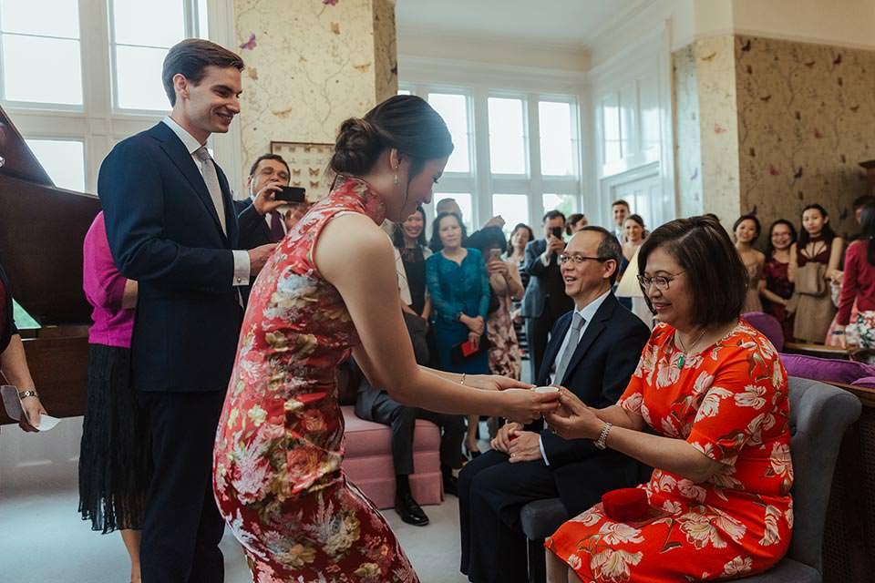 paschoe house wedding tea ceremony