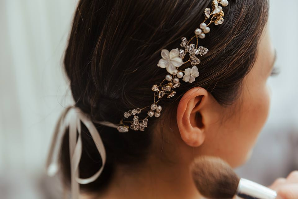 paschoe house wedding bridal hair
