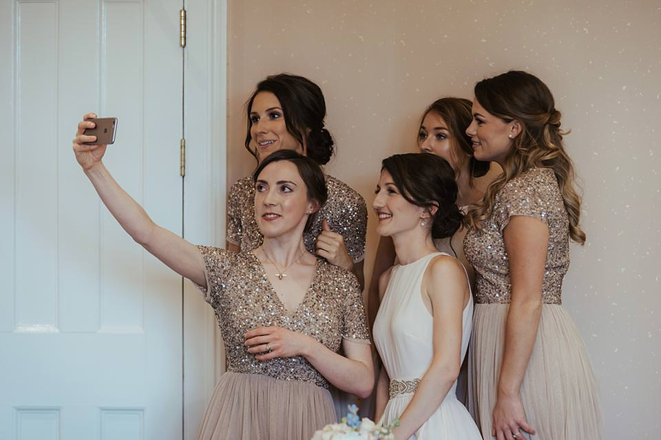 paschoe house wedding bridesmaids pose for selfie