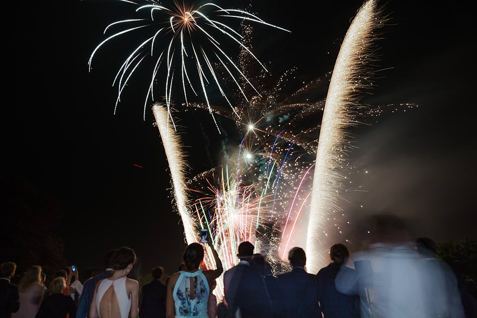 paschoe house wedding fireworks