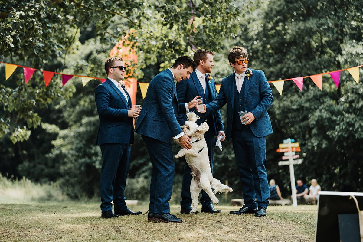 Browning Bros Wedding dog