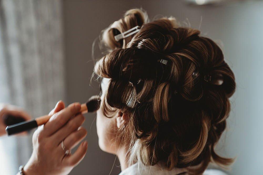 barnston lodge wedding bridal makeup