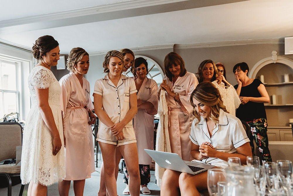 barnston lodge wedding bridemaids
