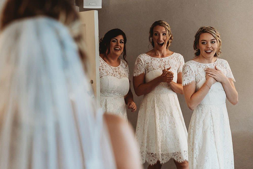 barnston lodge wedding bride first look