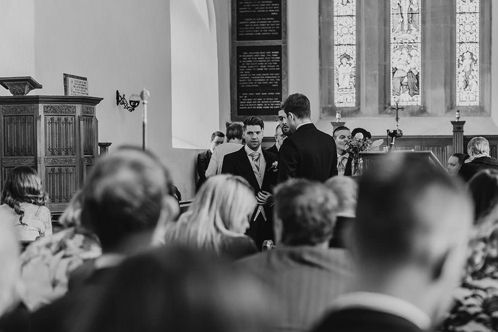barnston lodge wedding groom at church