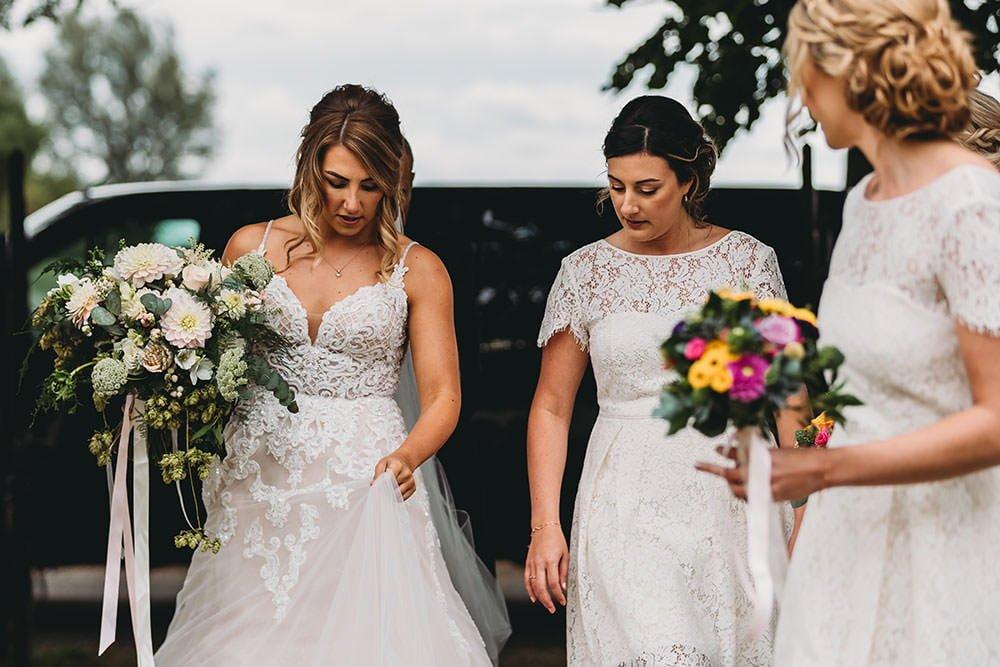 barnston lodge wedding bride arrival