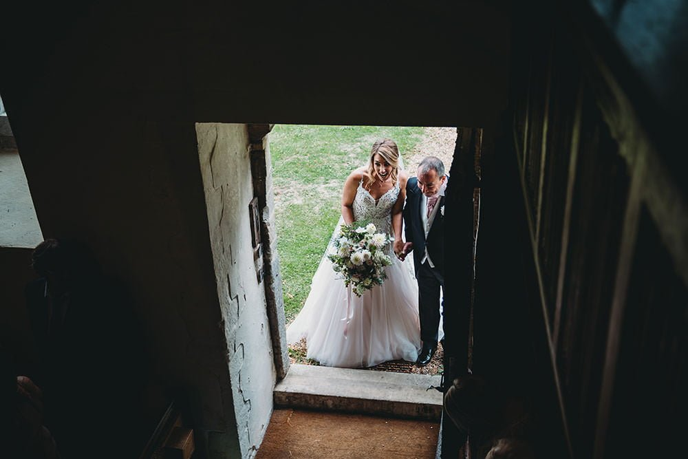 barnston lodge wedding bride walk