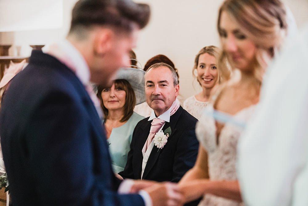 barnston lodge wedding dad looks on