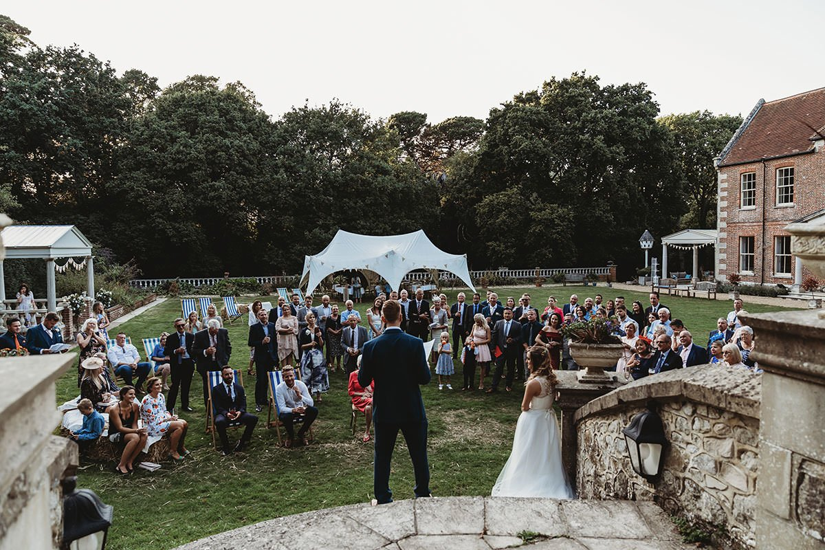 isle of wight wedding photography landguard manor speeches