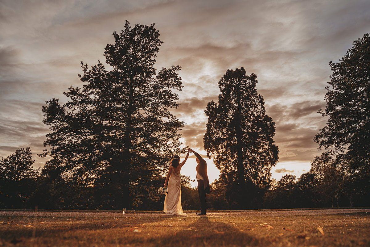 braxted park summer wedding sunset