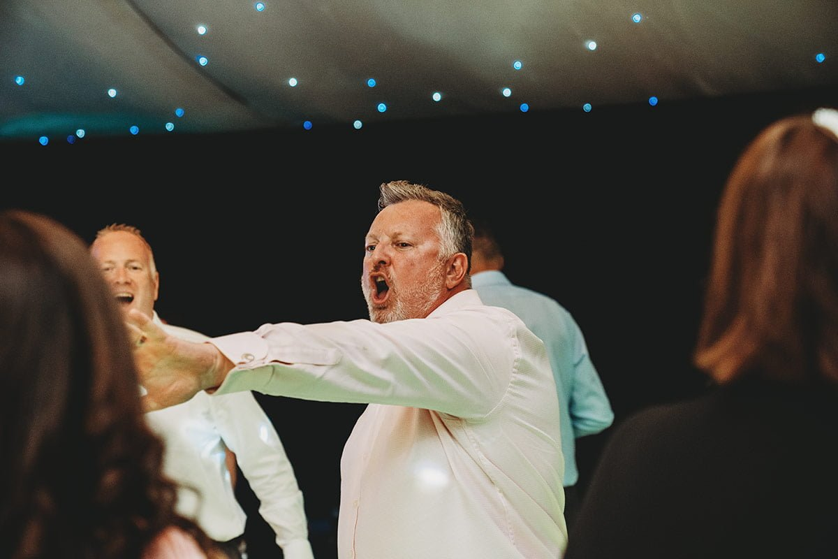 braxted park summer wedding guest dancing