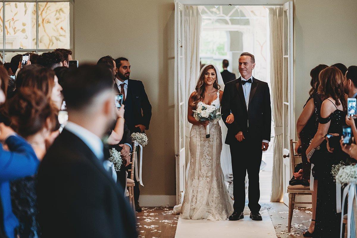 braxted park turkish wedding bride entrance